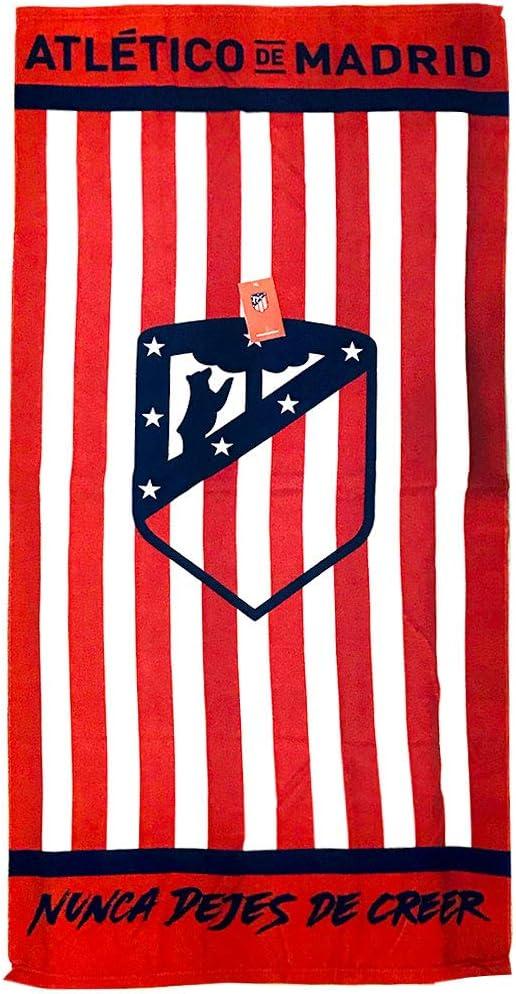 Atlético de Madrid Toalla Microfibra Baño Playa Atlético de Madrid Nunca Dejes De Creer ATM 1903 70x140cm (ATM1): Amazon.es: Hogar
