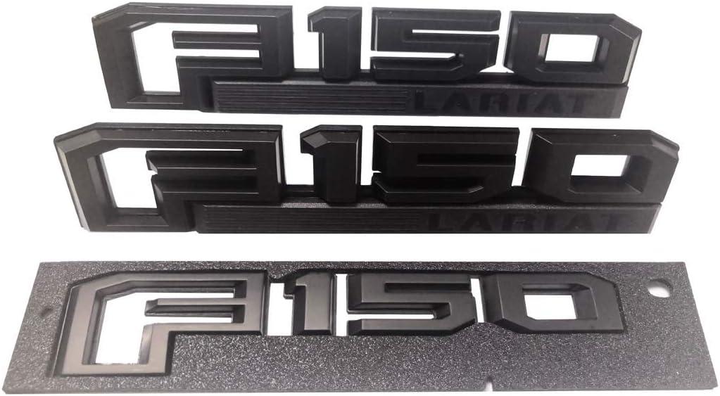 For 2018 Ford  F-150 Logo Truck Rear Tailgate Emblem Sticker Decoration Black