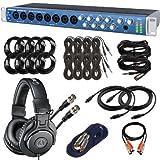 PreSonus AudioBox 1818VSL USB Audio Interface with ATH-M30x Headphones & Cables Bundle