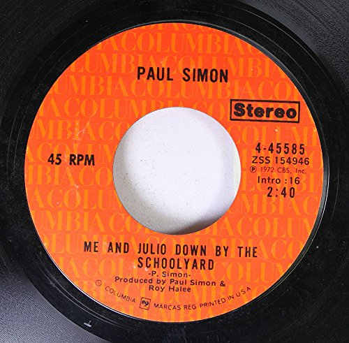 PAUL SIMON 45 RPM ME AND JULIO DOWN