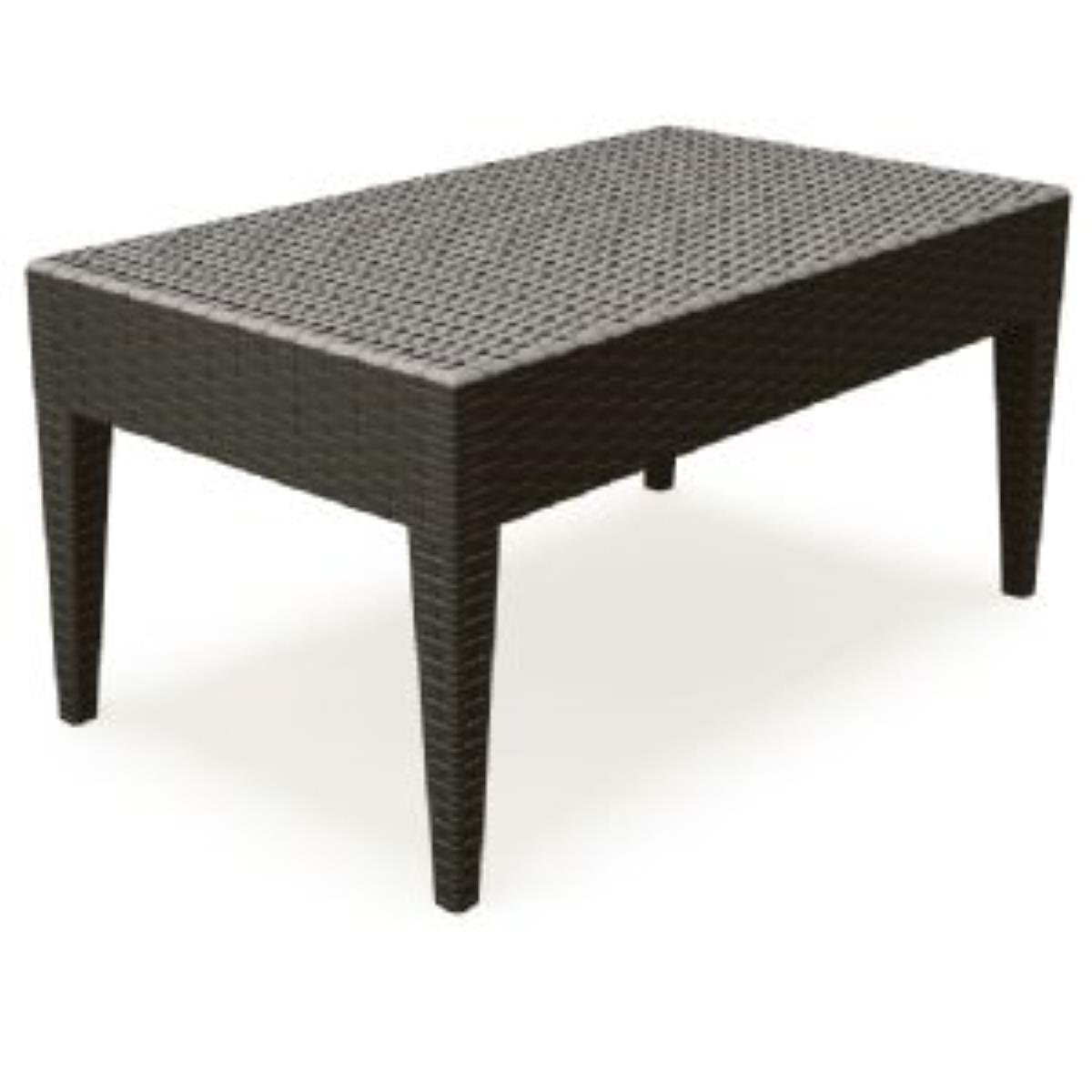 Compamia ISP855 BR Miami Rectangle Resin Coffee Table Brown