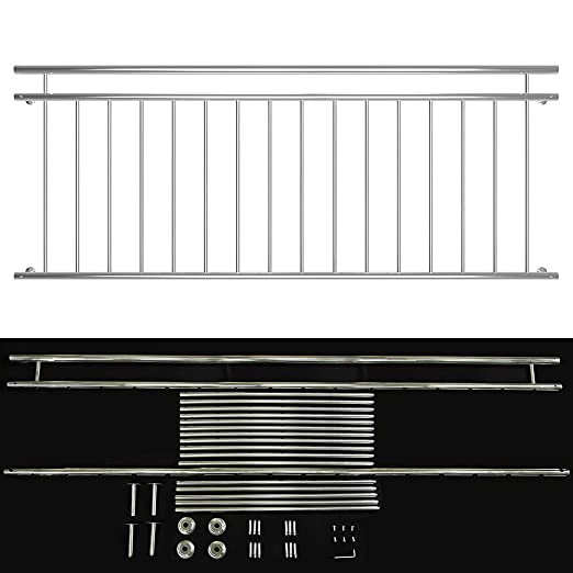 Melko Fenster Und Balkongitter Aus V2a Edelstahl Franzosischer Balkon Fenstergitter Fenstergelander 90 X 225 Cm 16 Streben