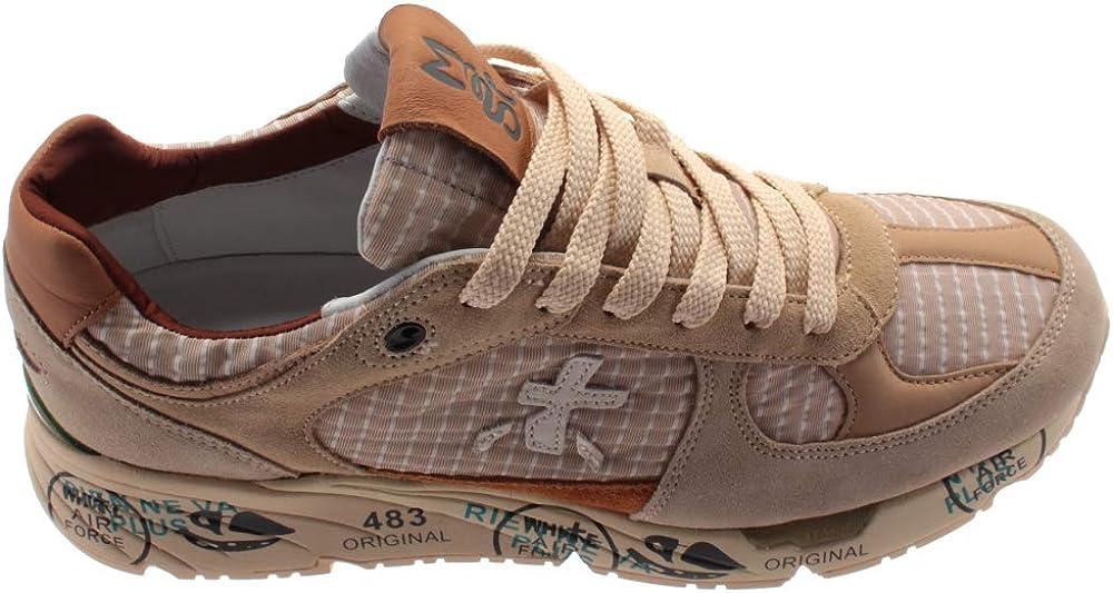 PREMIATA Sneakers Uomo Mase 4554 Camoscio Tessuto Beige Beige