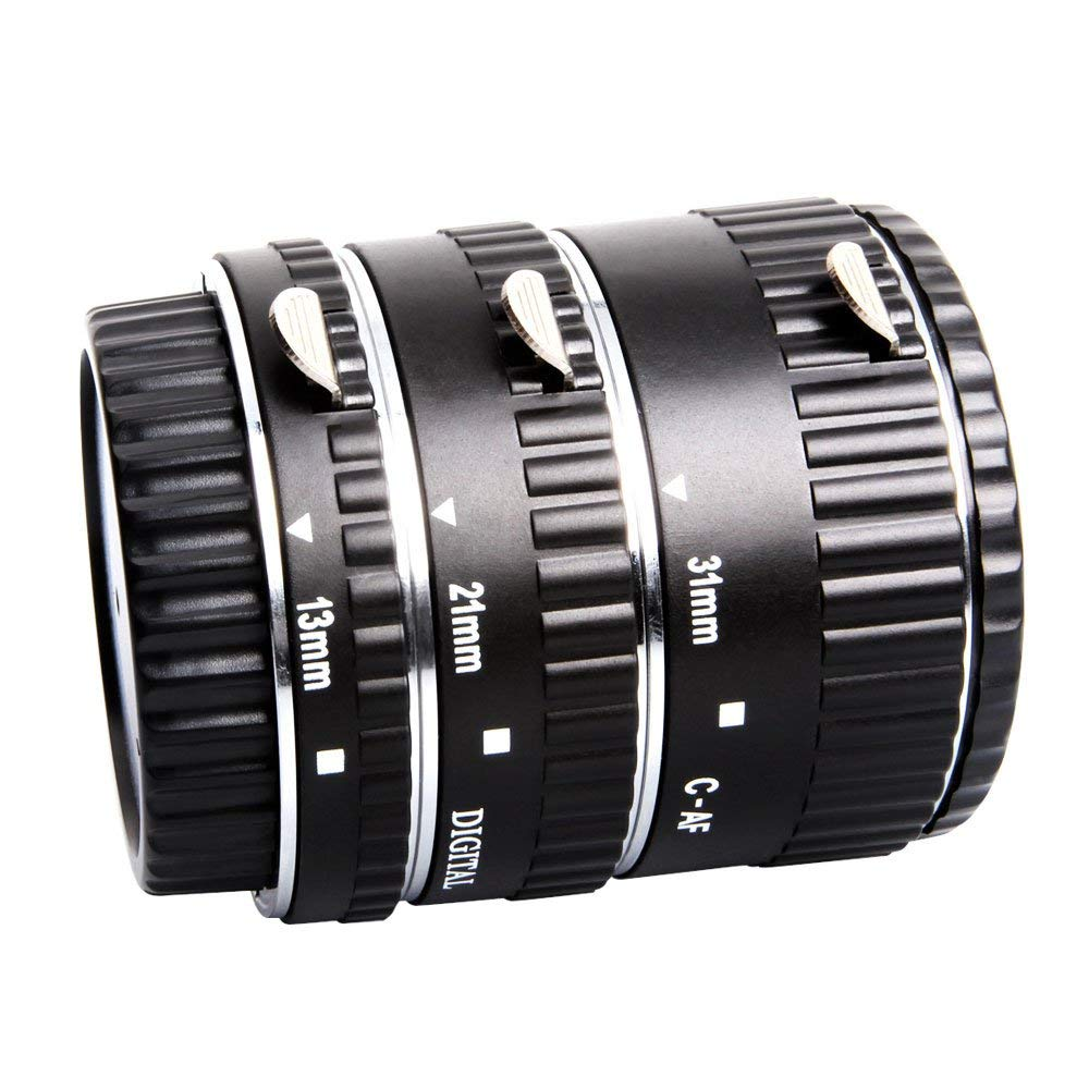 Mcoplus C-AF-A Auto Focus Metal Macro Extension Tube Set for Canon EOS EF EF-S SLR Cameras by mcoplus