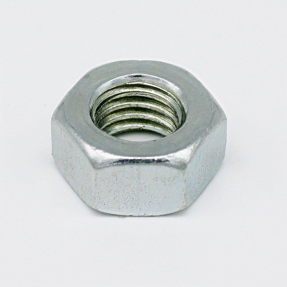 50 St/ück Sechskantmutter M8 Schl/üsselweite 13mm Stahl verzinkt 6mm stark Gewinde-Mutter DIN 934 Qualit/ät 1A