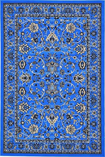 Unique Loom Kashan Collection Traditional Floral