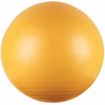 Gym Ball - Pelota de pilates (85 cm), color amarillo: Amazon.es ...
