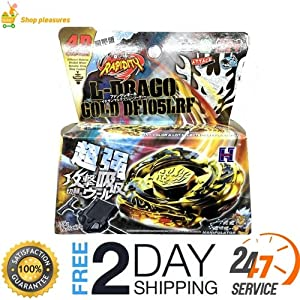 L-Drago Gold Rapidity 4D Top Metal Fusion Fight Master New + Launcher