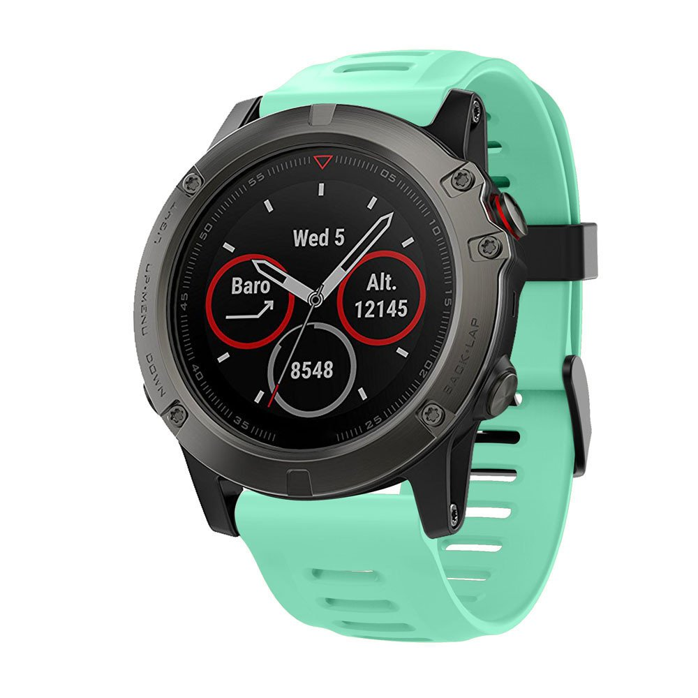 ✿ para Reloj Garmin Fenix 5X GPS, Correa de Silicona Suave Reloj de ...