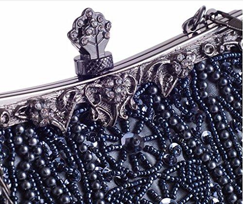 de novia bolso de vestido Golden novia la la mano de bolsa bolsa hombro bordado perla XJTNLB de bolso Black conocimiento embarque de Bolso cena xTwqAI4a