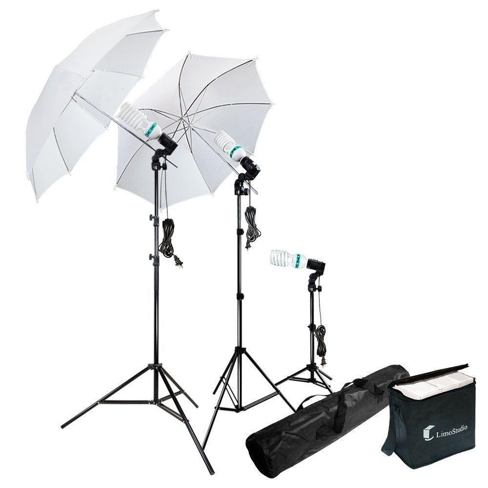 (Certified Refurbished) Photography Photo Portrait Studio 600W Day Light Umbrella Continuous Lighting Kit by LimoStudio, LMS103