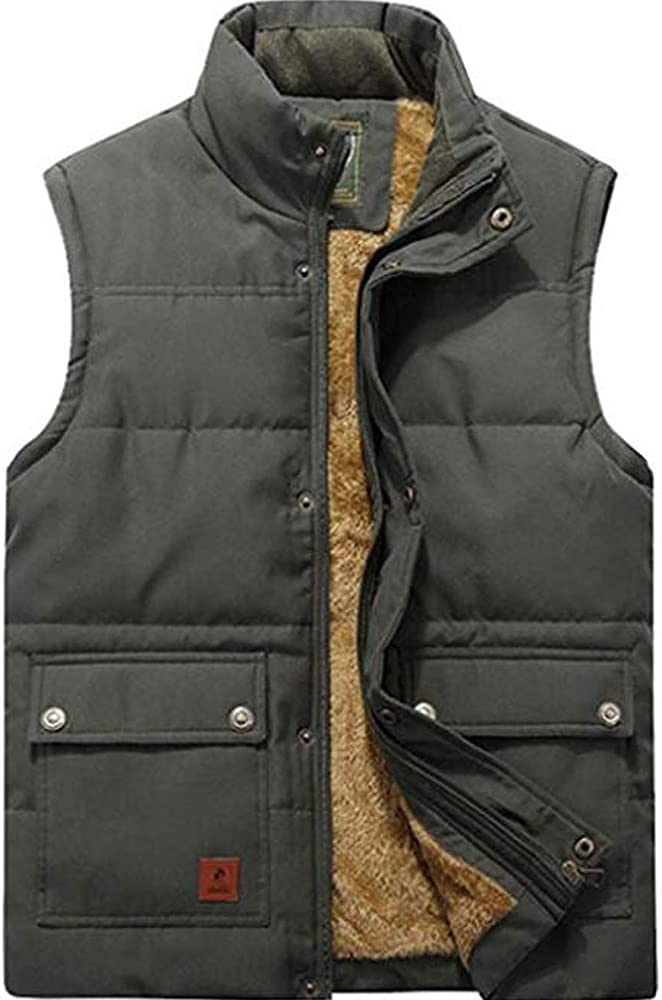 Men Vest Waistcoat Winter warm Down coat Padded Jacket Parka Gilet Thick Lined