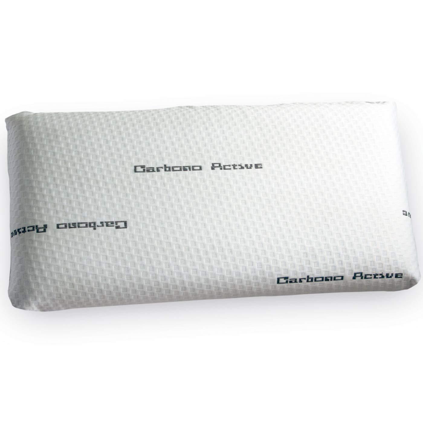 Pack de 2 Almohadas Viscoelásticas Modelo Carbono Active Perforada, Medida 90 – 90x34x12cm