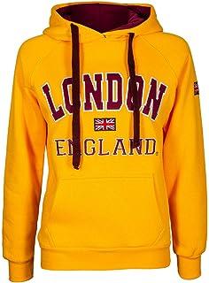Sudadera con capucha para mujer, con impresión de la bandera de Inglaterra y el mensaje impreso…