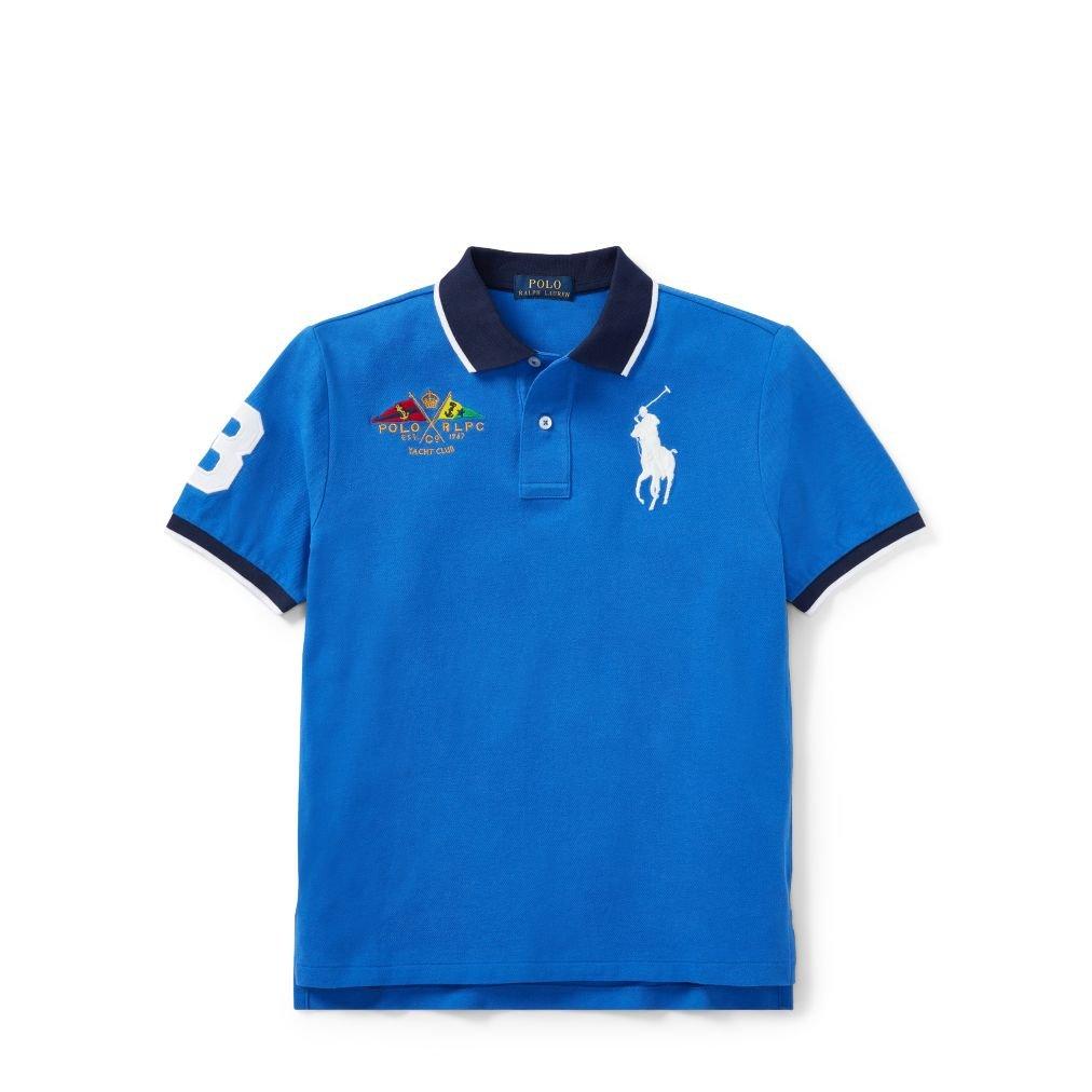 Ralph Lauren Boys Polo Shirt Blue New Iris - Blue (Large): Amazon ...