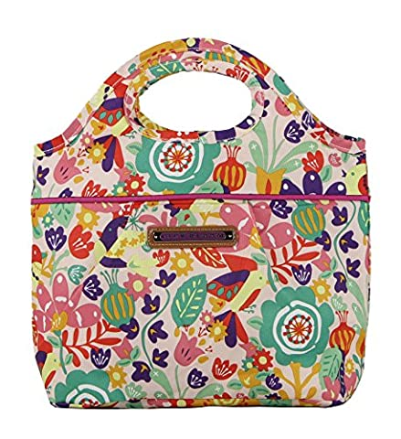 Lily Bloom Insulated Cinch Top Lunch Cooler/Tote (Tulips and Tweets) - Plastic Lily Tub