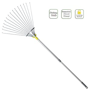 Jardineer 63 inch Adjustable Garden Rake Leaf