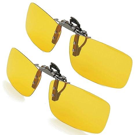 Kampre 2 Piezas de Gafas de Sol para Exteriores, con Clip, Gafas de Sol polarizadas, Lentes de conducción, Gafas de Sol Grises con Clip
