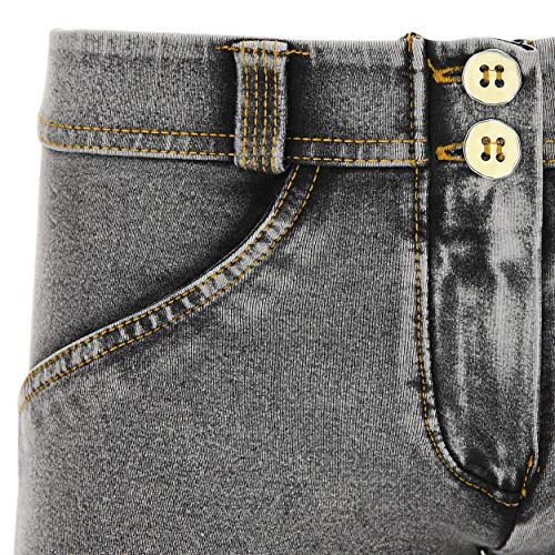 Lavaggio Chiaro Gialle Effetto cuciture Vita Freddy Pantalone Grigio up® Denim Wr Bassa Jeans 10aqF8