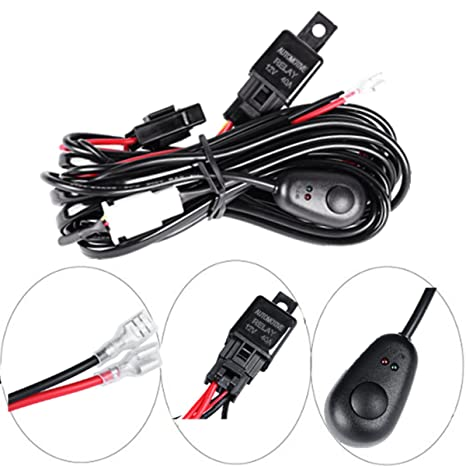 Wiring Harness, POWLAB 2.5 Metrer DC 12V 40A Wiring Harness Kit with on
