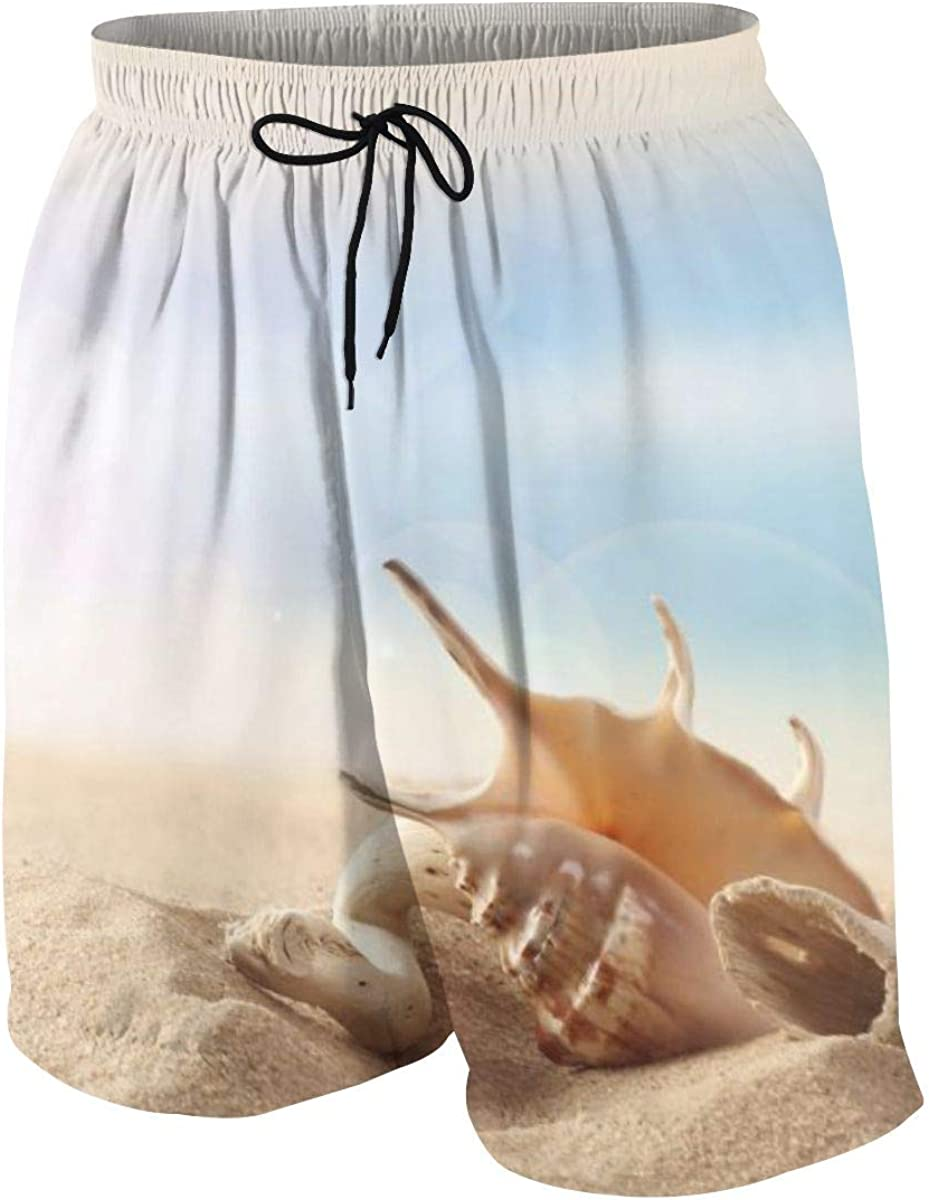 Kidhome Teenagers Boys Beach Board Shorts Beach Crab Summer Drawstring Beach Shorts Swim Trunks with Pockets for Teen Boys