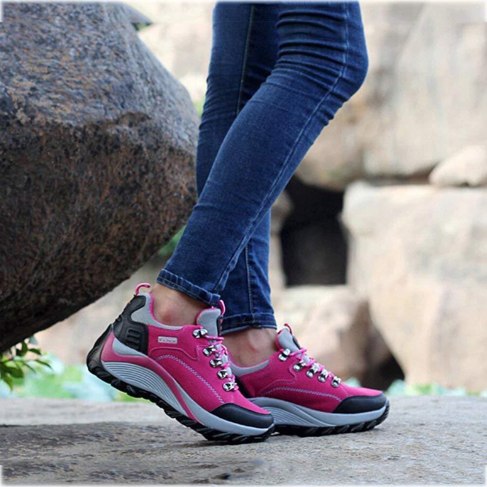 damen Wanderschuhe Wanderschuhe Wanderschuhe Trekking Schuhe Rutschfeste Outdoor Warm Walking Klettern Turnschuhe Dämpfung (Farbe   B Größe   37) (Farbe   On Größe   38) 946804