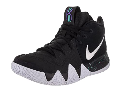 Nike Kids Grade School Kyrie 4 Basketball Shoes (4, Black/Black/