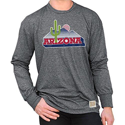 - Elite Fan Shop Arizona Wildcats Retro Long Sleeve TShirt Charcoal - XXL