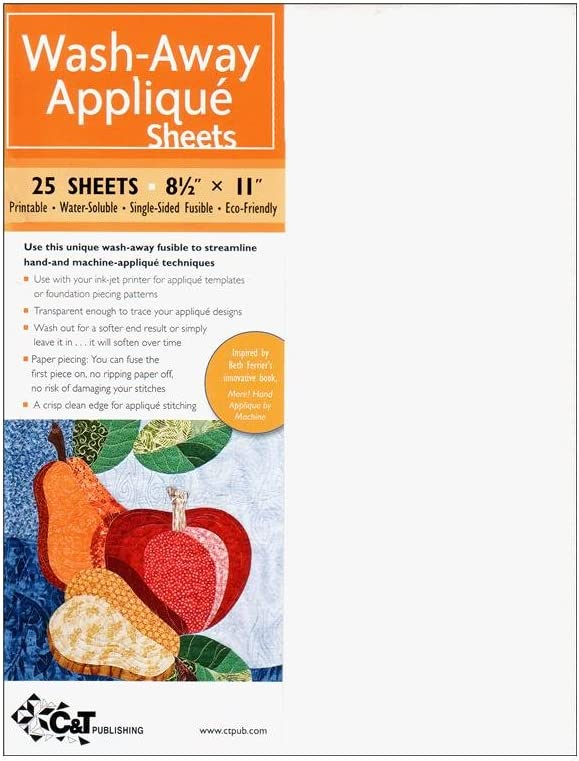 """OESD Applique Fuse /& Fix Paper-Backed Fusible Product 8/"""" x 10/"""" Pkg of 20"""