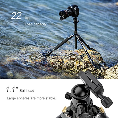 K&F Concept 62'' DSLR Tripod, Lightweight and Compact Aluminum Camera Tripod with 360 Panorama...