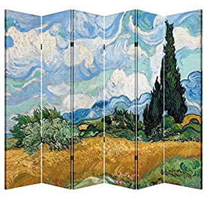 6 panel folding screen decorative canvas for Canvas privacy screen outdoor