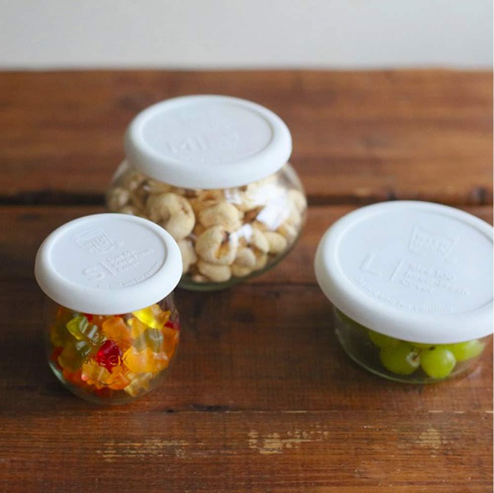 TAPAS /& ENVASES RIOJA Weck Tarros Cristal Botes con Tapa de clipar para conservas sin bpa Tarro hermetico de Cocina para congelador microondas Pack de 10 tarros Weck de 200 Ml