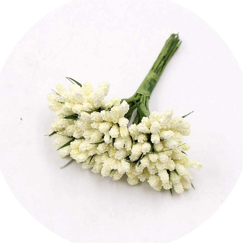 Wedding Decor 1 Bouquet 12pcs Flower Stamen Artificial Floral Bridal