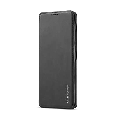BeyeX Samsung Galaxy S8 Flip Case Leather Cover Mobile Phone Cover Premium Business Kickstand Card Holders Textured Simple Style (Black): Toys & Games