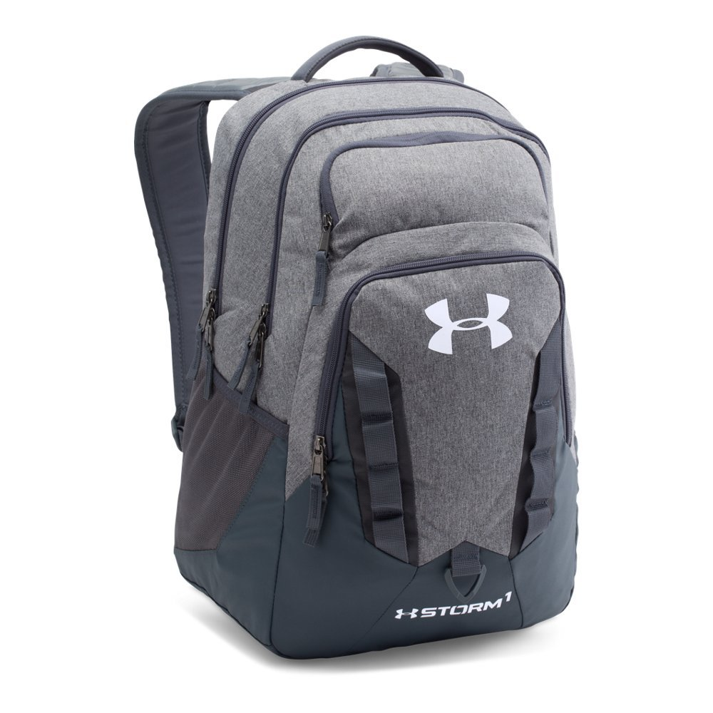 Under Armour Storm Recruit Backpack, Graphite/White, One Size