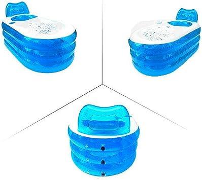 WUPYI2018 Bañera inflable SPA plegable, bañera para adultos inflable de viaje
