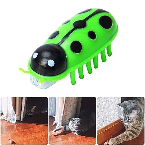 LayOPO Robótico Juguete para Gato, Masticador de Gato eléctrico, Juguete dispensador de Agilidad,
