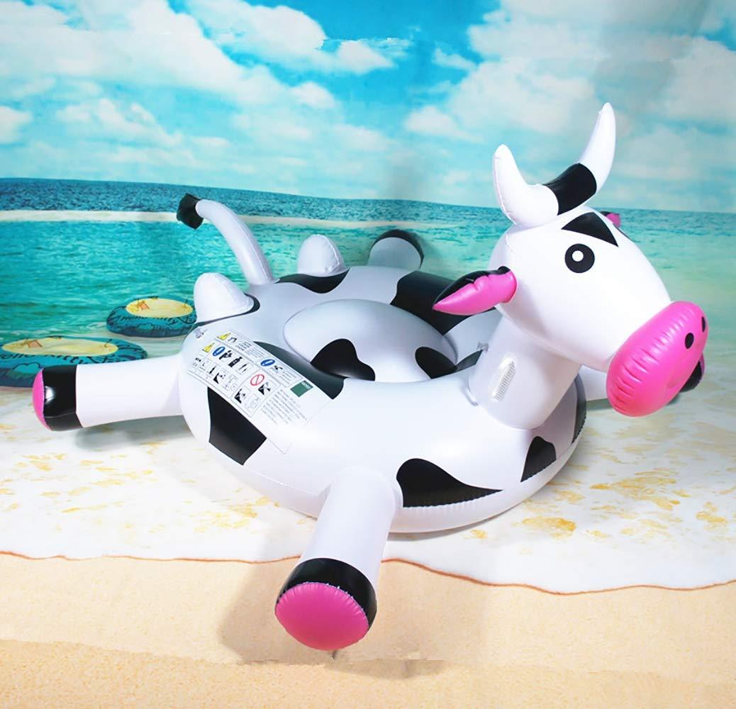Vaca Montando en una Fila Flotante Super Mango Grande con ...