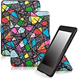 Famavala Shell Case For Kindle Paperwhite , Slim Stand-able PU Leather Case Cover with Auto Wake/Sleep for Amazon Kindle Paperwhite (Fit versions:2012, 2013, 2014 and 2015 New 300 PPI) (Sail-Gray)