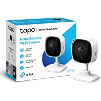 TP-LINK Tapo Mini Smart Security Camera, Indoor CCTV, Works with Alexa & Google Home, No Hub Required, 1080p, 2-Way…