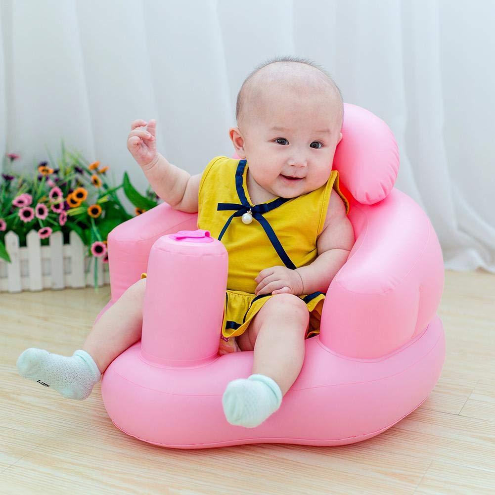 Taburete de ba/ño port/átil de la silla de la cena del beb/é de Seat del sof/á inflable para los ni/ños