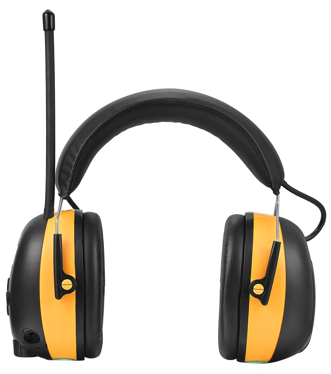 ZOHAN Digital AM/FM/MP3 Radio Earmuff, Noise Reduction Hearing Protector For Mowing, Snowmobiling, Sporting Events (Yellow) by ZOHAN (Image #2)