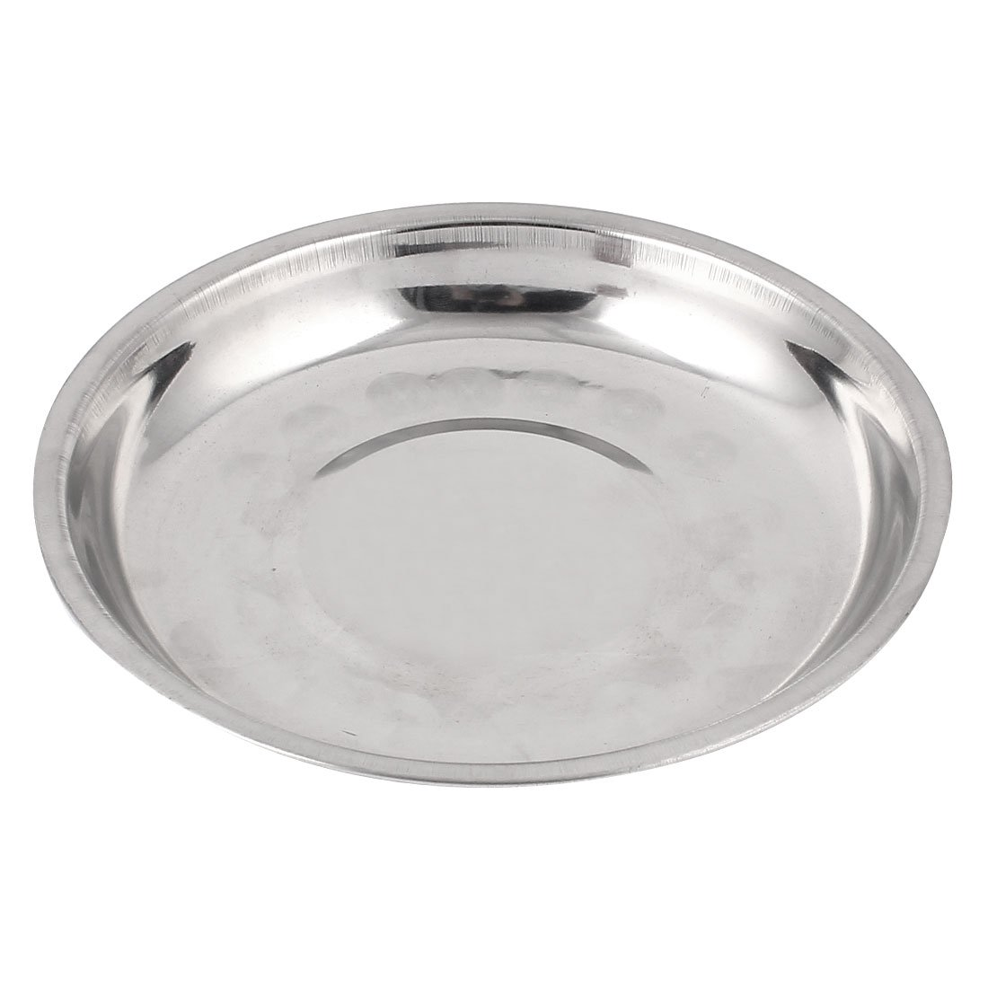 Uxcell a15061800ux0146 Stainless Steel Dinner Plate Dish Food Fruit Holder Container 15cm Dragonmarts - BISS
