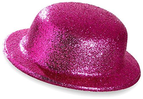 WIDMANN Bowler Hat?Glitter Unisex-adult, Pink, One Size, vd-wdm28044