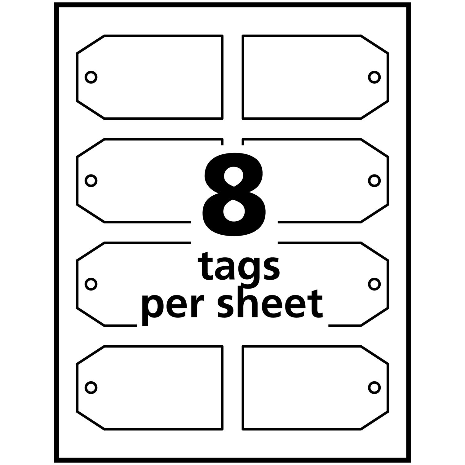 image relating to Printable Tags With Strings named Avery Printable Tags for Inkjet Printers Simply just, Tags With