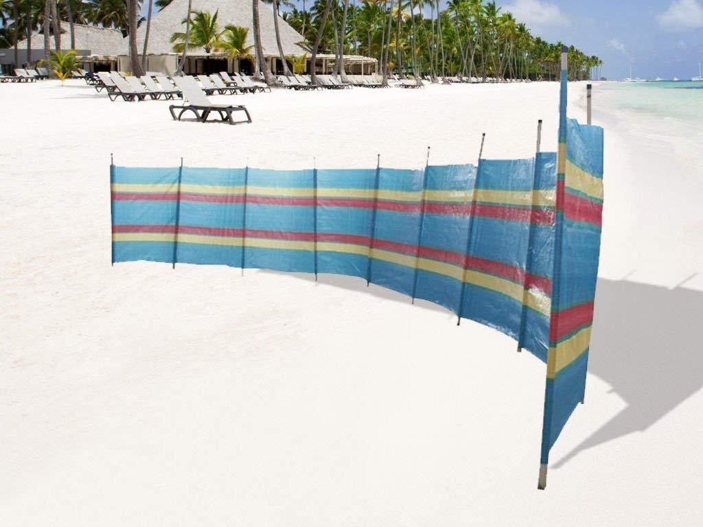 FlickBuyz 4//5// 6//8// 10 EXTRA TALL POLE BEACH HOLIDAY CARAVAN CAMPING WINDBREAK TALL WINDBREAKERS COLOURFUL 20ft x 5ft