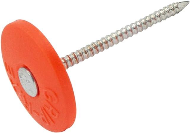 "Qty 500 Grip Rite Plastic Grip Cap Nails 1/"" Round"