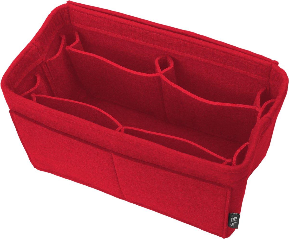 Pelikus Felt Purse & Tote Organizer Insert/Multi-Pocket Handbag Shaper (Medium, Red – m)