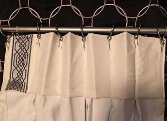 Add Pinch Pleat to Our Custom Made Curtain 100″ Wide 1 Panel Double Pinch Pleats 9″ high