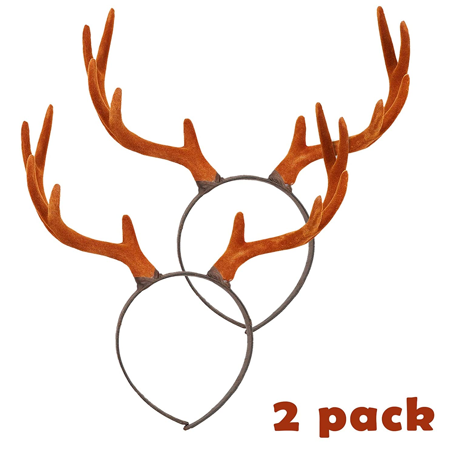 Pawliss Reindeer Antler Headband Cute Hair Accessory for Christmas Holiday Party Stereoscopic Design